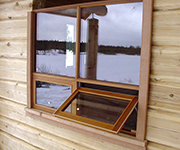 Double Awning Window Open with Vertical Mullion