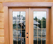 French Door - Double with 15 Lite Removable Grid