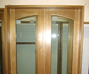 French Door - With Double Arch & Internal Brass Grids