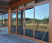 Sliding Door - Double Slider with Awning Transom Windows